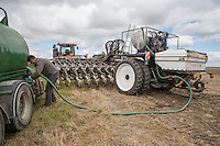 Filling liquid nitrogen tank, drilling oil seed rape - Lincolnshire, August