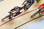 Yudai Nitta (JPN), <br /> AUGUST 31, 2018 - Cycling - Track : <br /> Men's Keirin Round 1 <br /> at Jakarta International Velodrome <br /> during the 2018 Jakarta Palembang Asian Games <br /> in Jakarta, Indonesia. <br /> (Photo by Naoki Morita/AFLO SPORT)