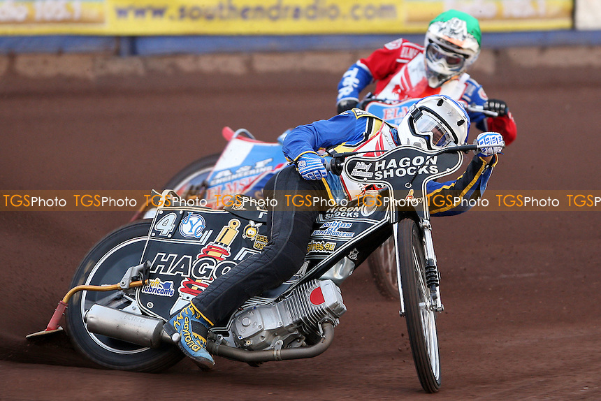 Heat 2: Cameron Woodward (blue) and Tommy Allen (green) - The Paul Hurry Testimonial at The Arena Essex Raceway, Lakeside - 18/07/08 - MANDATORY CREDIT: Rob Newell/TGSPHOTO