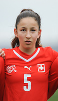 20160211 - TUBIZE , BELGIUM : Switzerland's Lynn Häring pictured during the friendly female soccer match between Women under 17 teams of  Belgium and Switzerland , in Tubize , Belgium . Thursday 11th February 2016 . PHOTO SPORTPIX.BE DIRK VUYLSTEKE