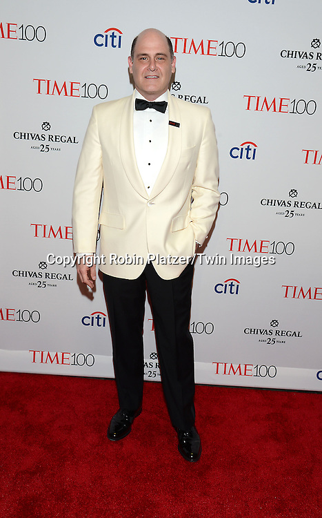 Matthew Weiner attends the TIME 100 Issue celebrating the 100 Most Influential People in the World on April 21, 2015 <br /> at Frederick P Rose Hall at Lincoln Center in New York City, New York, USA.<br /> <br /> photo by Robin Platzer/Twin Images<br />  <br /> phone number 212-935-0770