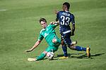 11.01.2019, Bidvest Stadion, Braampark, Johannesburg, RSA, FSP, SV Werder Bremen (GER) vs Bidvest Wits FC (ZA)<br /> <br /> im Bild / picture shows <br /> Reeve Peter Frosler (Bidvest Wits FC #33)<br /> Marco Friedl (Werder Bremen #32)<br /> <br /> <br /> <br /> Foto © nordphoto / Kokenge