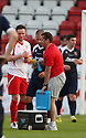 Graham Westley drinks break. Mitchell Cole Benefit Match - Lamex Stadium, Stevenage - 7th May, 2013. © Kevin Coleman 2013. ..