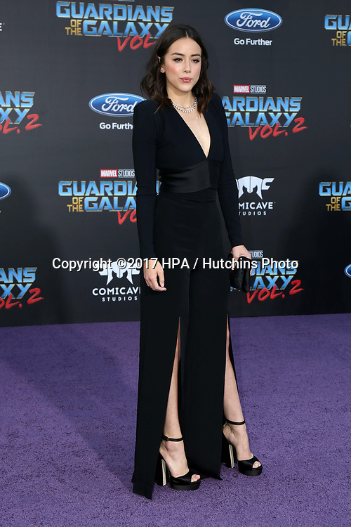 "LOS ANGELES - APR 19:  Chloe Bennet at the ""Guardians of the Galaxy Vol. 2"" Los Angeles Premiere at the Dolby Theater on April 19, 2017 in Los Angeles, CA"