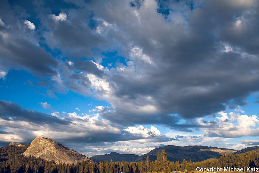 Evening Light and Clouds, Lembert Dome, Yosemite