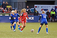 Portland, OR - Saturday May 06, 2017: Allie Long during a regular season National Women's Soccer League (NWSL) match between the Portland Thorns FC and the Seattle Reign FC at Providence Park.
