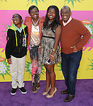 Al Roker and family arriving at the 2013 Nickelodeon Kid's Choice Awards, held at the USC Galen Center in Los Angeles, CA. on March 23, 2013.
