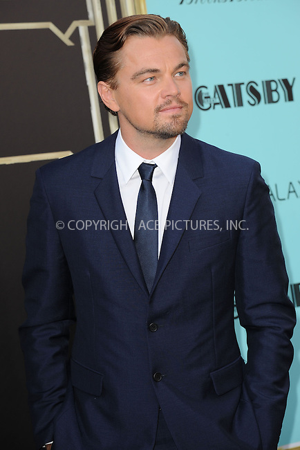 WWW.ACEPIXS.COM . . . . . .May 1, 2013...New York City...Leonardo DiCaprio attends the 'The Great Gatsby' world premiere at Avery Fisher Hall at Lincoln Center for the Performing Arts on May 1, 2013 in New York City ....Please byline: KRISTIN CALLAHAN - ACEPIXS.COM.. . . . . . ..Ace Pictures, Inc: ..tel: (212) 243 8787 or (646) 769 0430..e-mail: info@acepixs.com..web: http://www.acepixs.com .