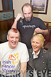 Shave or Dye - David Elton from Caherslee and Lynda Hillier from Abbeydorney pictured getting their heads shaved in aid of The Irish Cancer Society as part of the 'Shave or Dye' campaign, by South African Joez Moutinho from Cois Abhain in Nancy Myles Bar on Saturday night............................................................................................................................................................................................................................................................................................ ............