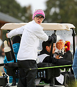 1st October 2017, Windross Farm, Auckland, New Zealand; LPGA McKayson NZ Womens Open, final round;  Spain's Belen Mozo after play was abandoned due to weather