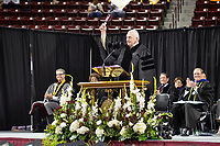 Spring Graduation - first ceremony for the College of Education and the College of Business. Commencement speaker: Former Rhode Island Supreme Court Chief Justice Frank J. Williams. <br />