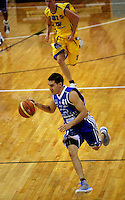Luke Martin breaks down the court during the NBL Basketball match between Wellington Saints and Otago Nuggets at TSB Bank Arena, Wellington, New Zealand on Sunday, 30 March 2008. Photo: Dave Lintott / lintottphoto.co.nz