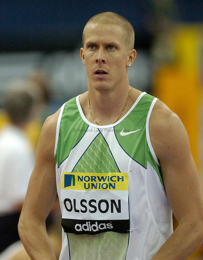Photo: Richard Lane..Norwich Union Indoor Grand Prix, Birmingham. 17/02/2007. .Sweden's Christian Olsson.
