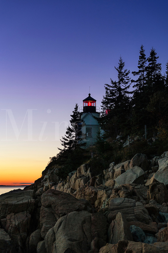 Bass Harbor Lighthouse, Acadia National Park, Mt, Desert Island, Maine, USA