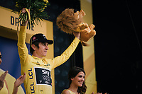 Geraint Thomas (GBR/SKY) retains the yellow jersey after stage 13<br /> <br /> Stage 13: Bourg d'Oisans &gt; Valence (169km)<br /> <br /> 105th Tour de France 2018<br /> &copy;kramon