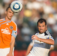 LA Galaxy midfielder Chris Klein (7) following the ball. The LA Galaxy defeated the Houston Dynamo 4-1 at Home Depot Center stadium in Carson, California on Saturday evening June 5, 2010..