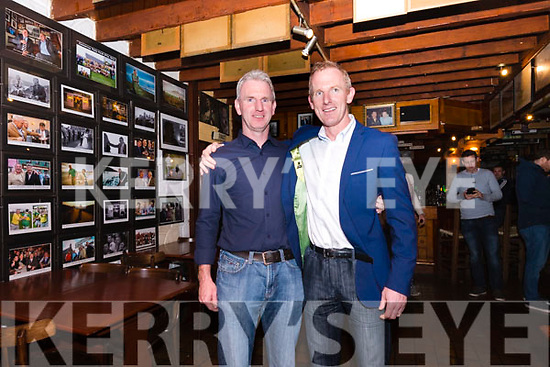 Liam Hassett with his brother Mark at the 1997 team reunion at Paidí Ó Sé pub in Ventry on Friday night.