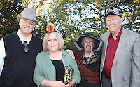 NWA Democrat-Gazette/CARIN SCHOPPMEYER Jim and Peggy Hart (from left) and Sue and Charlie Runnels enjoy the Mad Hatter Ball to benefit the Eureka Springs School of the Arts on Oct. 20 at the Crescent Hotel.