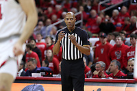 RALEIGH, NC - JANUARY 9: Official Bert Smith during a game between Notre Dame and NC State at PNC Arena on January 9, 2020 in Raleigh, North Carolina.