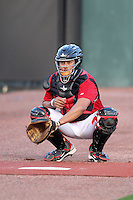 Nashville Sounds catcher Mike Rivera #11 before a game against the Omaha Storm Chasers at Greer Stadium on April 25, 2011 in Nashville, Tennessee.  Omaha defeated Nashville 2-1.  Photo By Mike Janes/Four Seam Images