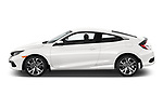 Car driver side profile view of a 2019 Honda Civic-Coupe Sport 2 Door Coupe