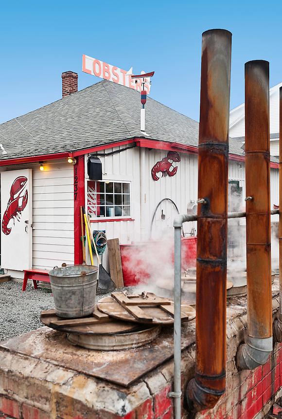 Lobster pound, Maine, ME, USA