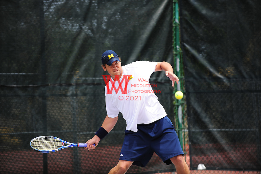 Michigan Men Tennis Team competes in the second round of the 2010 NCAA Tennis Tournament at the Ohio State University. May 16th, 2010