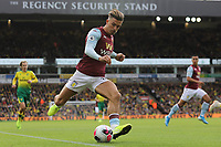 Jack Grealish of Aston Villa in action during Norwich City vs Aston Villa, Premier League Football at Carrow Road on 5th October 2019