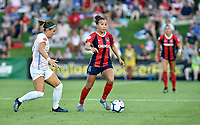 BOYDS, MD - JULY 20: Washington Spirit forward Mallory Mal Pugh (11) dribbles during the National Women's Soccer League (NWSL) game between the Houston Dash and Washington Spirit July 20, 2019 at Maureen Hendricks Field at Maryland SoccerPlex in Boyds, MD. (Photo by Randy Litzinger/Icon Sportswire)