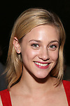 "Lili Reinhart from the cast of ""Riverdale"" visits Broadway's ""Bandstand"" at the Bernard Jacobs Theate on May 19, 2017 in New York City."