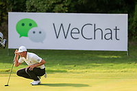 Haotong Li (CHN) on the 8th green during round 1 at the WGC HSBC Champions, Sheshan Golf Club, Shanghai, China. 31/10/2019.<br /> Picture Fran Caffrey / Golffile.ie<br /> <br /> All photo usage must carry mandatory copyright credit (© Golffile | Fran Caffrey)