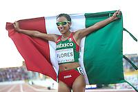 TORONTO, CANADÁ, 23.07.2015 - PAN-ATLETISMO - Mexicana Brenda Flores medalha de ouro na prova de 10.000 metros no atletismo nos Jogos Panamericanos na cidade de Toronto no Canadá, nesta quinta-feira, 23 (Foto: Vanessa Carvalho/Brazil Photo Press)