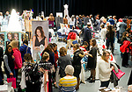 TORRINGTON, CT-011418JS01---Hundreds of people came out for the Annual Bridal Event 2018 held Sunday at the Warner Theater's Carole and Ray Neag Preforming Arts Center in Torrington. More than 60 vendors were on hand for the event. <br /> Jim Shannon Republican-American