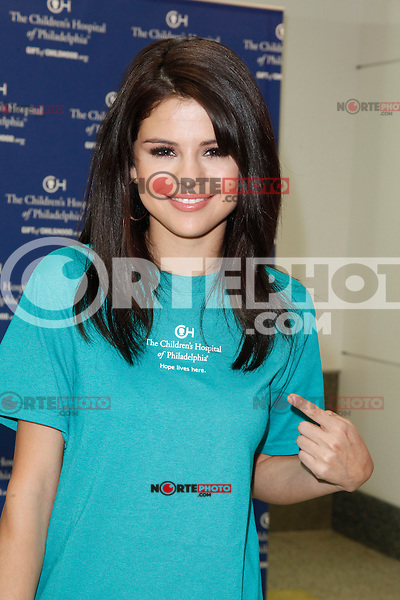 Selena Gomez pictured at Ryan Seacrest's launch of The Voice, a closed circuit broadcast center at Childrens Hospital in Philadelphia, Pa on July 15, 2011  &copy; Star Shooter / MediaPunchInc *NortePhoto.com*<br />