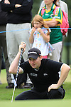 Stephen Gallacher (SCO) lines up his putt on the 3rd green during the Final Day Sunday  of The Irish Open presented by Discover Ireland at Killarney Golf & Fishing Club on 31st July 2011 (Photo Fran Caffrey/www.golffile.ie)