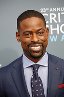 Sterling K. Brown attends the 23rd Annual Critics' Choice Awards at Barker Hangar in Santa Monica, Los Angeles, USA, on 11 January 2018. Photo: Hubert Boesl - NO WIRE SERVICE - Photo: Hubert Boesl/dpa /MediaPunch ***FOR USA ONLY***