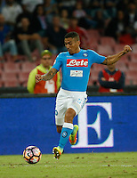 Miguel Allan  during the  italian serie a soccer match,between SSC Napoli and   Bologna FC    at  the San  Paolo   stadium in Naples  Italy , September 18, 2016