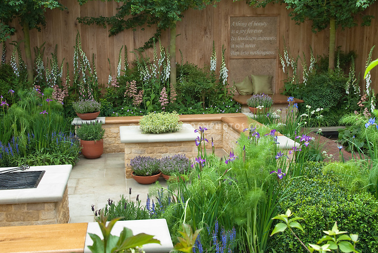 Meditation Garden With Poem By Keats Plant Amp Flower