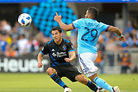 San Jose, CA - Saturday March 31, 2018: Shea Salinas during a Major League Soccer (MLS) match between the San Jose Earthquakes and New York City FC at Avaya Stadium.