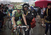 Alberto Contador (ESP/Tinkoff-Saxo) after finishing<br /> <br /> stage 12: Lannemezan - Plateau de Beille (195km)<br /> 2015 Tour de France