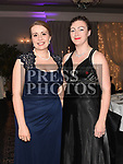 Ciara O'Donnell and Emma Jane Uí Éiligh at the Dominican Ball in the Westcourt hotel. Photo:Colin Bell/pressphotos.ie