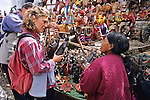 Tourists Buying Handicrafts