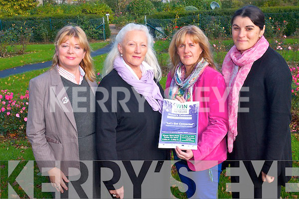 The Kerry Women's Interactive Network are hosting an one day conference 'Lets Get Connected' at the Manor West Hotel next Friday. <br /> L-R Cllr Gillian Wharton Slattery, Maria Relihan, Cathy Sadlier Morrison and Camelia Draghici all members of the steering committee of KWIN.