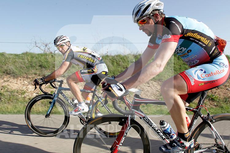 Etapa en linea ruta vuelta a Madrid 2011 302 Miguel de la Fuente Mariscos Castellar, 3 Carlos del Valle Ciclos Corredor. (ALTERPHOTOS/Alvaro Hernandez)