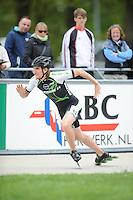 INLINE-SKATEN: HEERDE: Skeeler- en Skatecentrum Hoornscheveen, Europa Cup/Univé Skate Off, 05-05-2012, Ferre Spruyt BEL (#43), ©foto Martin de Jong