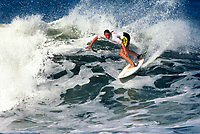 Lisa Andersen (USA) 1994 Women's World Surfing Champion with surfing at Narrabeen. Photo: joliphotos