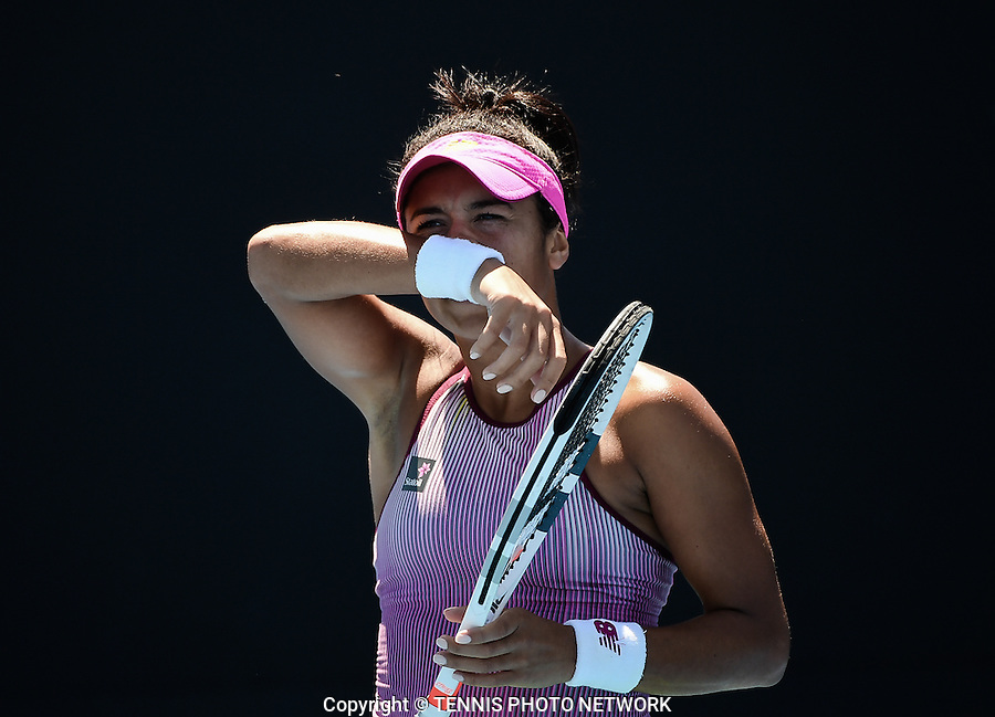 HEATHER WATSON (GBR)<br /> <br /> TENNIS , AUSTRALIAN OPEN,  MELBOURNE PARK, MELBOURNE, VICTORIA, AUSTRALIA, GRAND SLAM, HARD COURT, OUTDOOR, ITF, ATP, WTA<br /> <br /> &copy; TENNIS PHOTO NETWORK