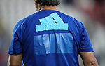 A Spanish coach is made to cover over his Adidas logo during the UEFA Under 21 Final at the Stadion Cracovia in Krakow. Picture date 30th June 2017. Picture credit should read: David Klein/Sportimage