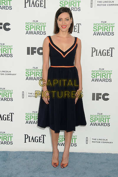 1 March 2014 - Santa Monica, California - Aubrey Plaza. 2014 Film Independent Spirit Awards - Arrivals held at Santa Monica Beach. <br /> CAP/ADM/BP<br /> &copy;Byron Purvis/AdMedia/Capital Pictures