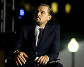 Leonardo DiCaprio participates  participates at a panel discussion on climate change with United States President Barack Obama (unseen) and Dr. Katharine Hayhoe (unseen),  as part of the White House South by South Lawn (SXSL) event about the importance of protecting the one planet we've got for future generations, on the South Lawn of the White House, Washington DC, October 3, 2016. <br /> Credit: Aude Guerrucci / Pool via CNP